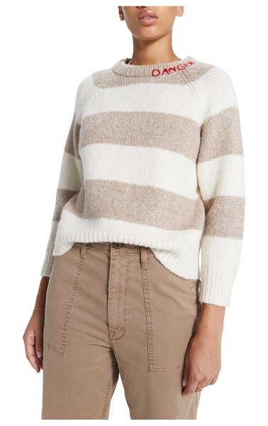 MOTHER the square boatneck alpaca & wool blend sweater in danger