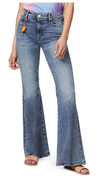 MOTHER the super cruiser high waist flare jeans in laws of attraction