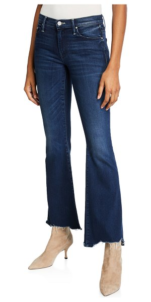 MOTHER The Weekender Fray Flare-Leg Jeans in tongue and chic