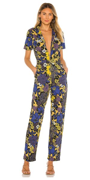 MOTHER the zippy ankle jumpsuit in oopsie daisy