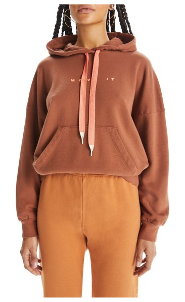 MOTHER whip it hoodie in mocha bisque