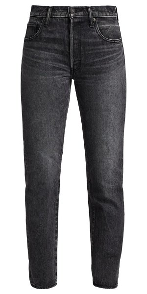 Moussy Vintage boothbay high-rise straight jeans in black