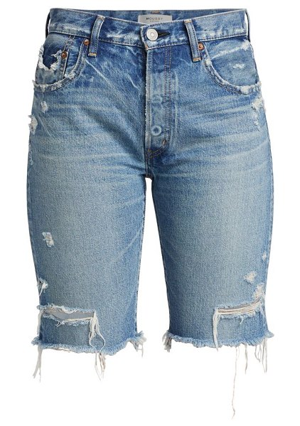 Moussy Vintage trosper high-rise denim bermuda shorts in light blue
