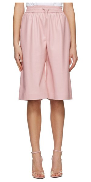 MSGM artificial leather bermuda shorts in pink