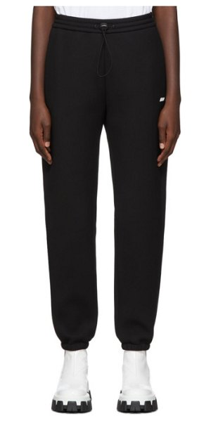 MSGM black scuba logo lounge pants in 99 black