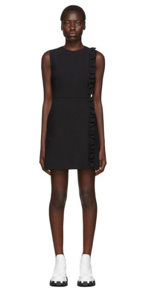 MSGM black sleeveless ruffles dress in 99 black
