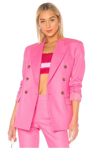 MSGM Blazer Jacket in pink - Self: 100% cottonLining: 100% poly. Do not wash. Double...