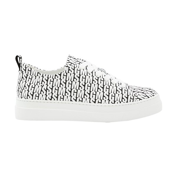 MSGM Carpa Donna logo trainers in black / white