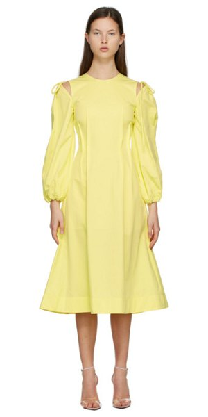 MSGM cut-out dress in yellow