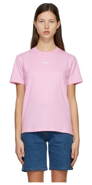MSGM logo t-shirt in pink