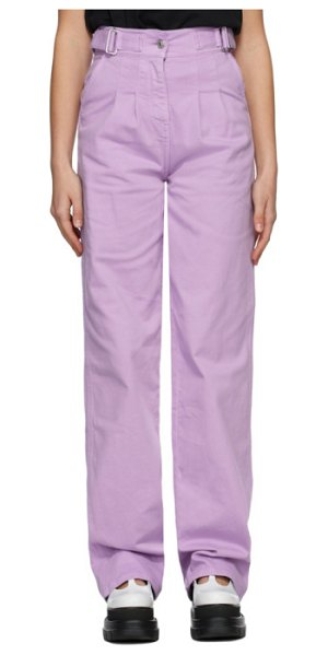MSGM purple baggy jeans in wisteria
