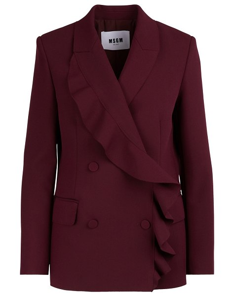 MSGM Ruffled jacket in burgundy