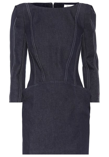 Mugler Denim minidress in blue - Mugler's minidress has been crafted in France from deep...