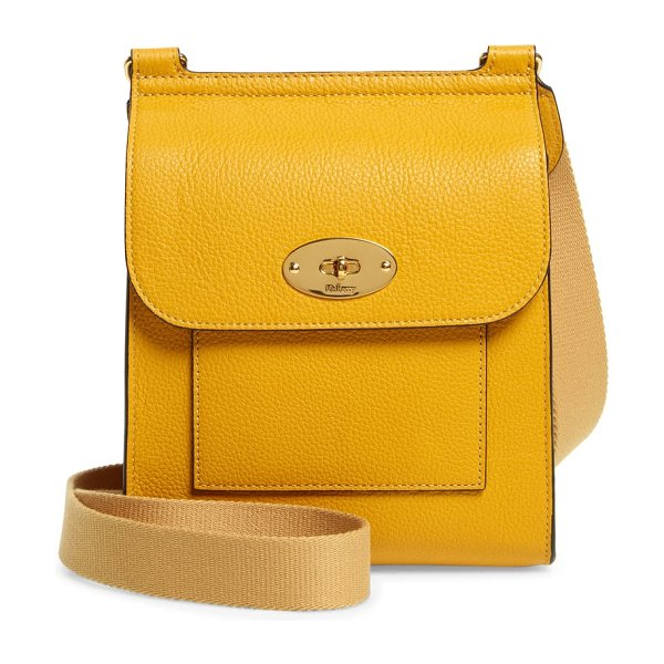 Mulberry small antony leather crossbody bag in deep amber