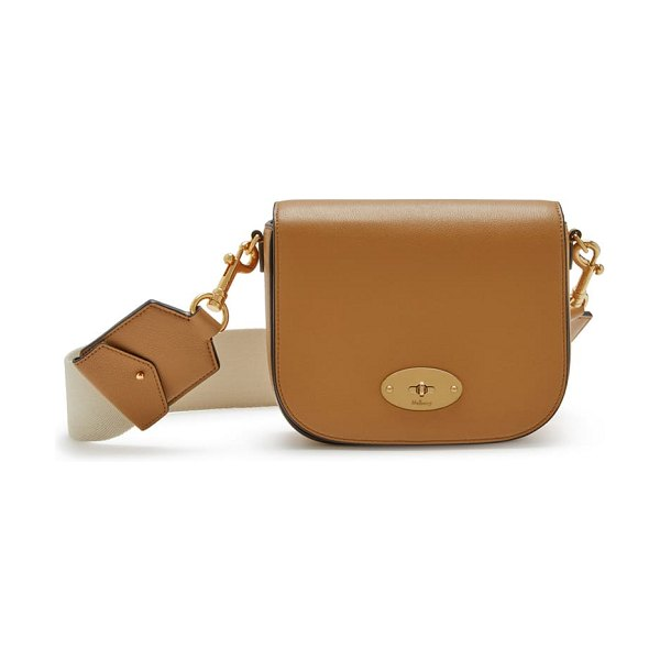 Mulberry small darley leather crossbody bag in sable