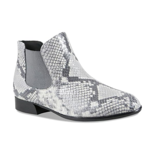 Munro cate chelsea boot in grey snake print leather