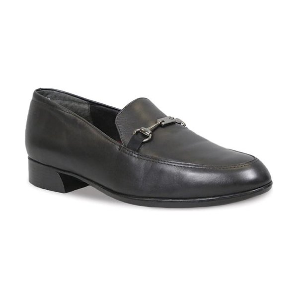 Munro harrison ii bit loafer in black leather