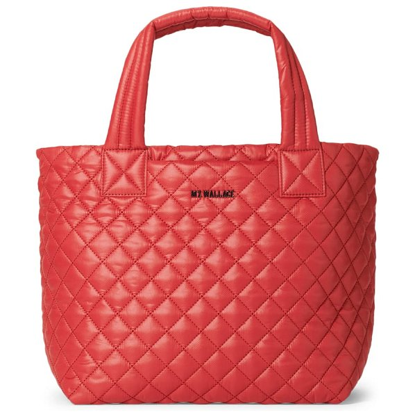 MZ Wallace deluxe small metro tote in red dahlia