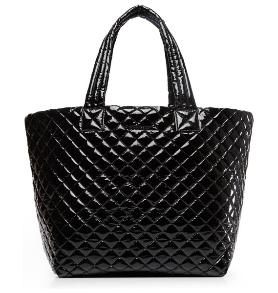 MZ Wallace large metro tote in black lacquer