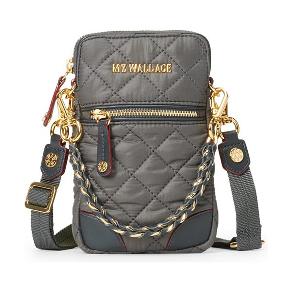 MZ Wallace micro crosby crossbody bag in magnet/ magnet
