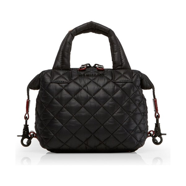 MZ Wallace Micro Sutton Quilted Tote Bag in black