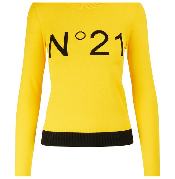 N 21 Logo t-shirt in yellow