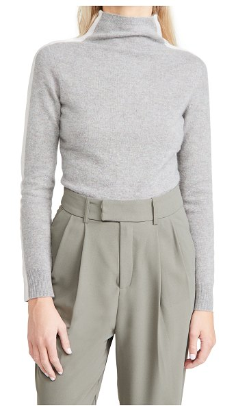 NAADAM funnel neck cashmere pullover in marled grey