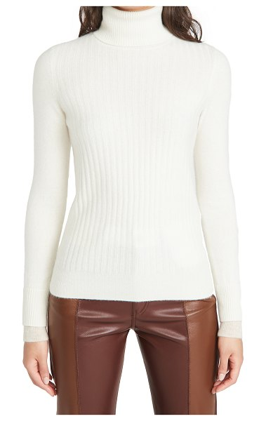 NAADAM ribbed cashmere turtleneck in white