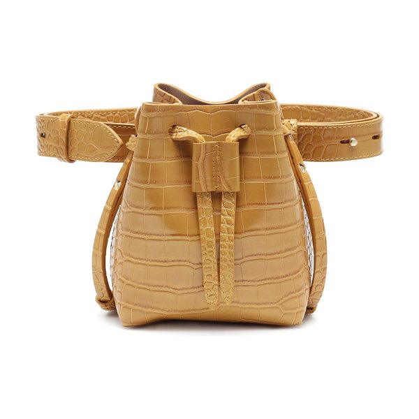 Nanushka minee faux leather belt bag in brown