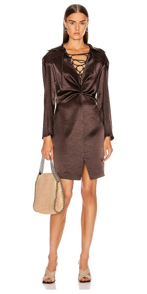 Nanushka pantha dress in espresso