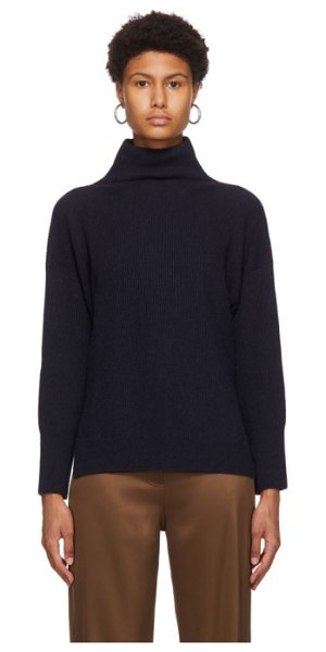 Nanushka recycled cashmere turtleneck in navy