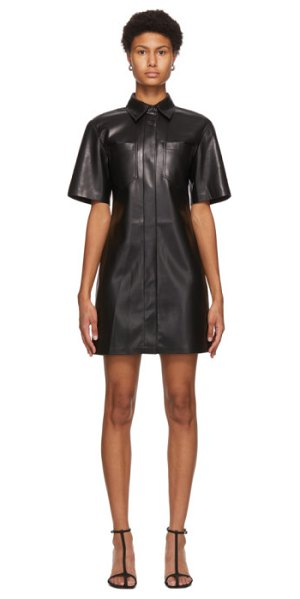Nanushka vegan leather berto dress in black
