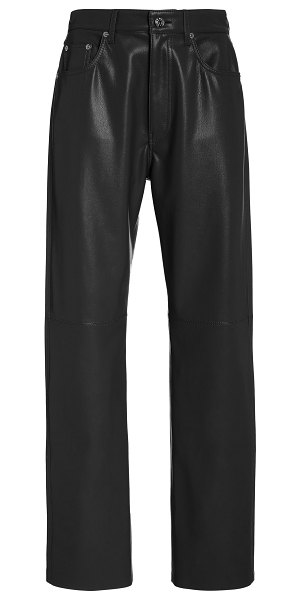 Nanushka vinni vegan leather straight-leg pants in black