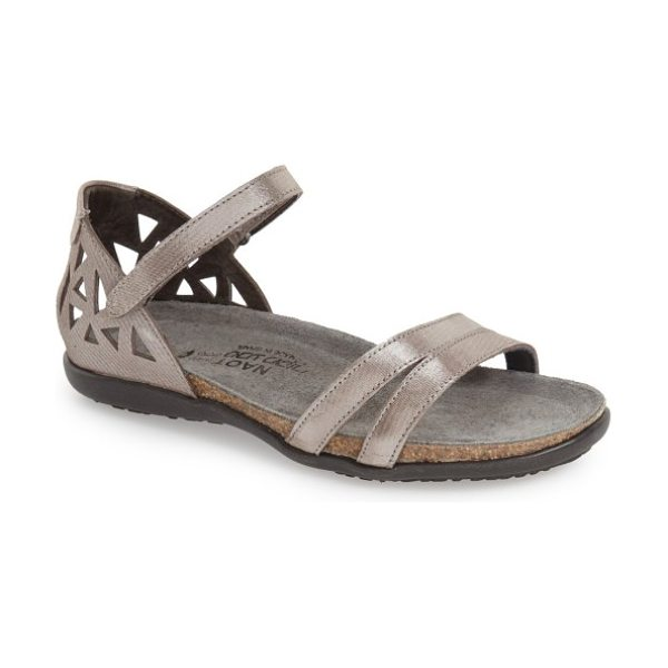 Naot 'bonnie' sandal in silver threads leather