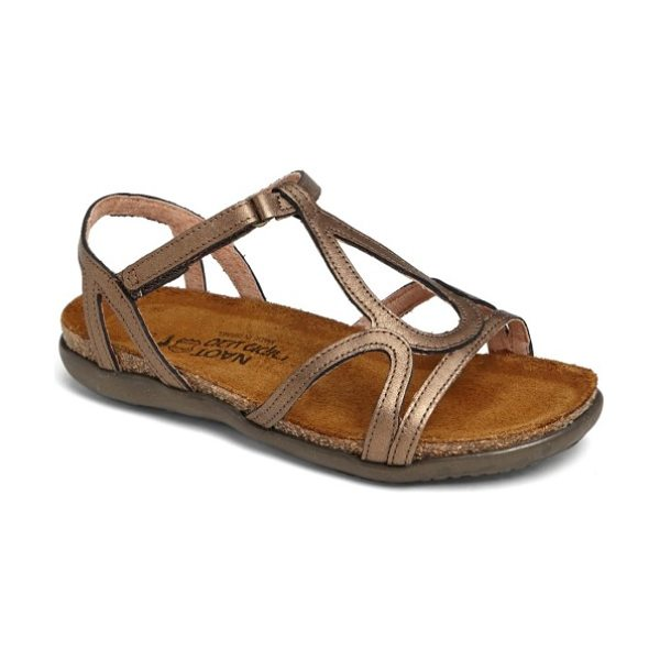 Naot 'dorith' sandal in latte brown leather