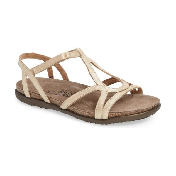 Naot 'dorith' sandal in gold leather
