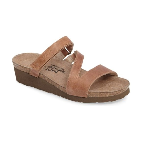 Naot gabriela sandal in brown leather