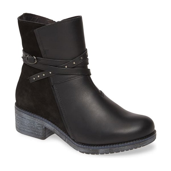 Naot poet water repellent boot in black leather