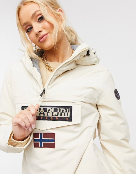 Napapijri rainforest winter 4 jacket in white in white