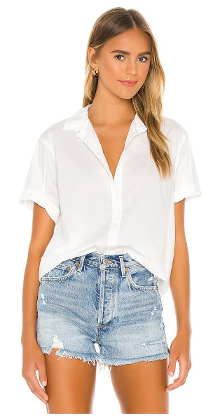 Nation LTD katherine classic rolled button down in white