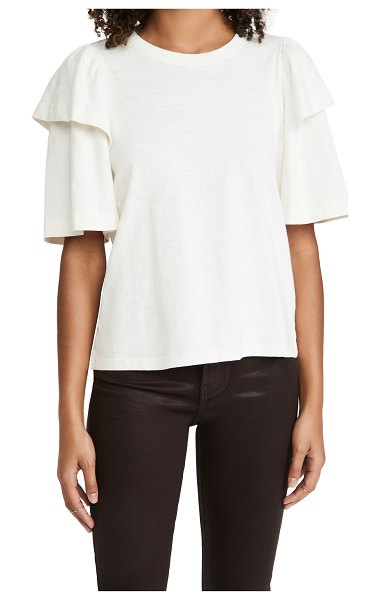 Nation LTD regina exaggerated sleeve tee in off white