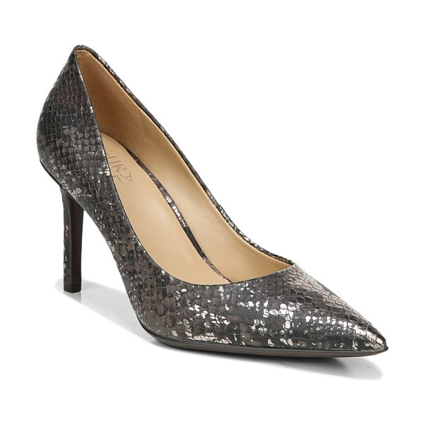 Naturalizer anna pointed toe pump in brown snake print leather