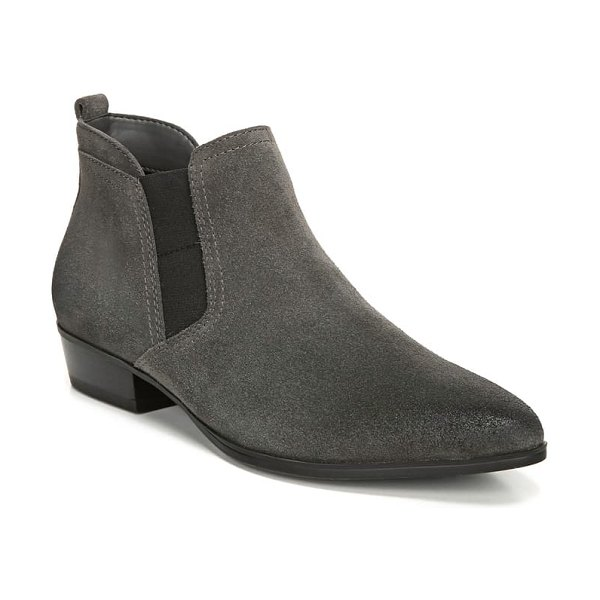 Naturalizer becka bootie in dark grey suede