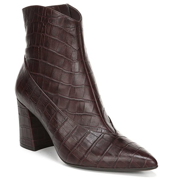 Naturalizer hart bootie in bordo croco leather