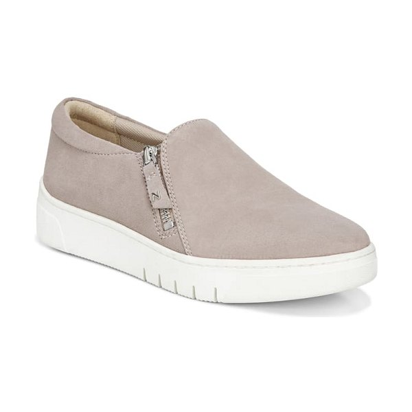 Naturalizer hawthorn platform sneaker in turtle dove leather
