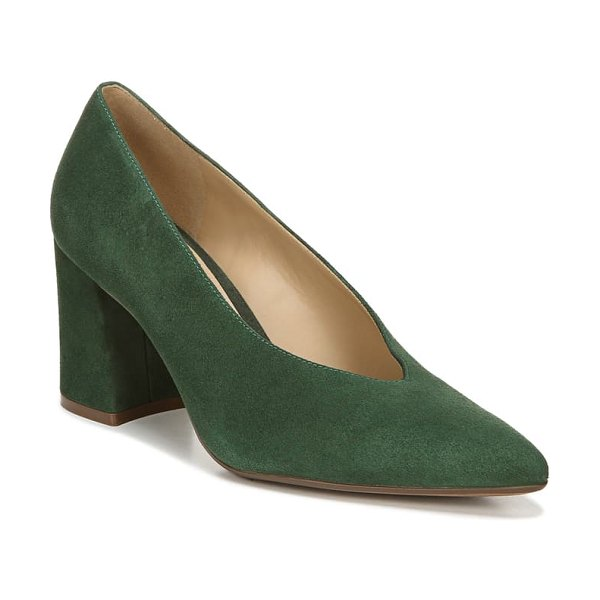 Naturalizer hope pointy toe pump in forest green suede