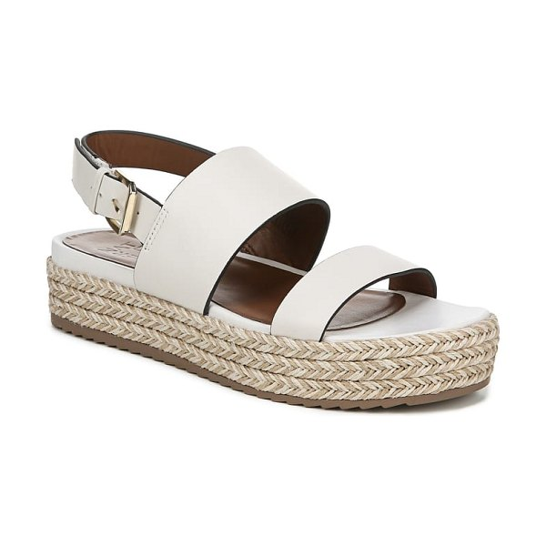 Naturalizer jaycie platform sandal in white - Braids of two-tone jute enliven the platform sole of an...