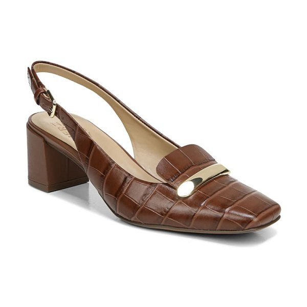 Naturalizer kendry slingback pump in lodge brown leather