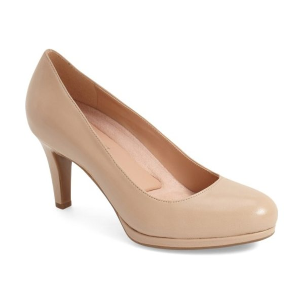 Naturalizer 'michelle' almond toe pump in tender taupe