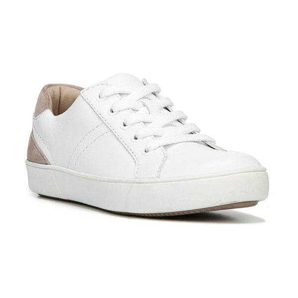 Naturalizer morrison sneaker in white leather - A shimmery, color-blocked street sneaker is built for...